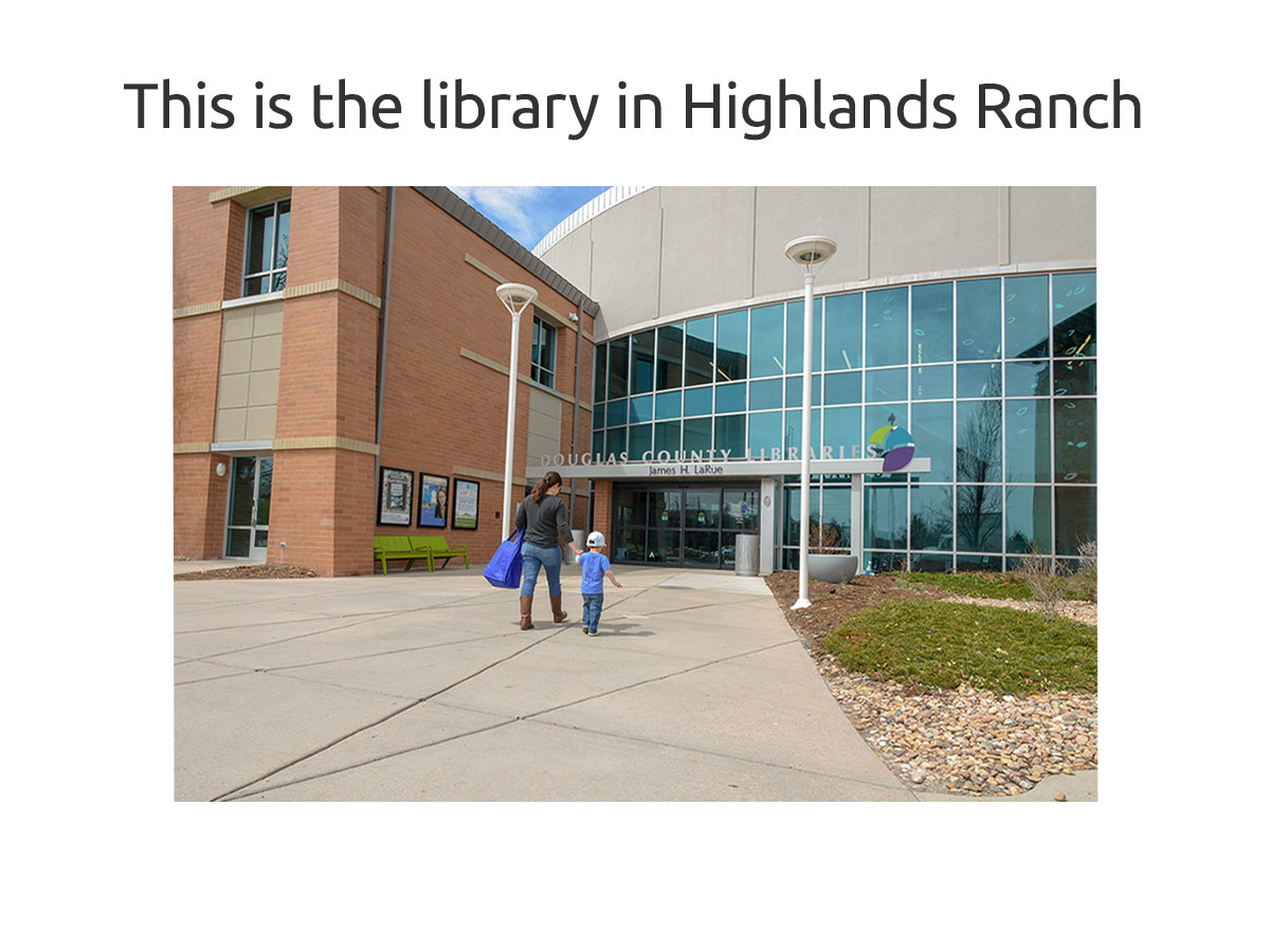 Welcome to Highlands Ranch Library