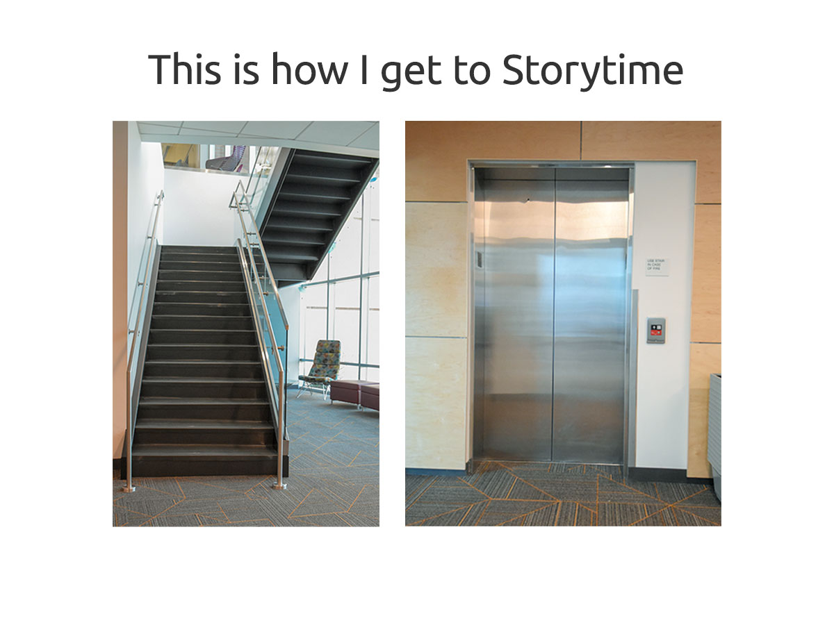 Second Floor Stairs or Elevator